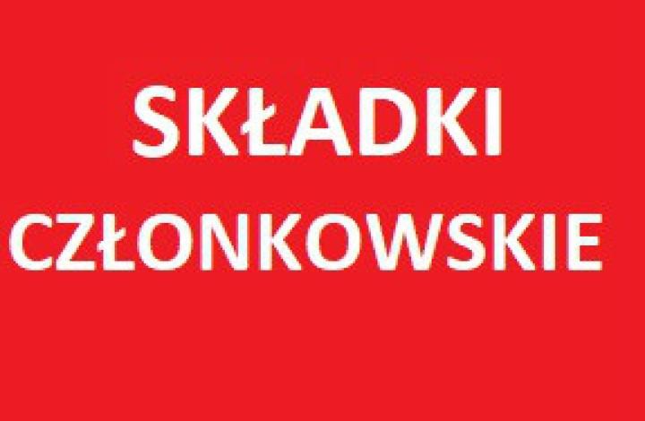 SKŁADKI CZŁONKOWSKIE ZA 2019R.